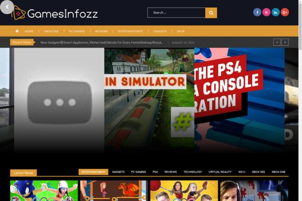 gamesinfozz.com - Fully Automated Video Blog Games, Shop - Free Hosting + Great Bonuses.