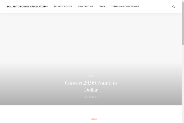 dollarstopounds.co - Finance, exchange rate. Site in 2013. Added to Adsense.