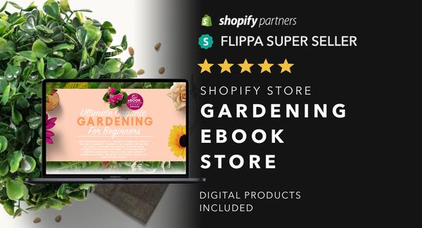 YourGardeningGuru.com - Password: 1234 | Gardening Ebooks Shopify Store For Sale Startup Streams