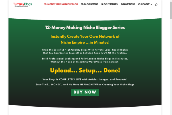 TurnkeyBlogs.xyz - Start Your Own Premade Niche Blogs MarketPlace Business 100% Earning Potential