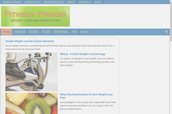 fitnessprimer.com - Fully functioning health and fitness website