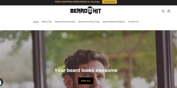 BeardHit.com - Beard Care Dropship Store-BIg Niche-Pro Design-Newbie Friendly-$1.5KBIN Bonus