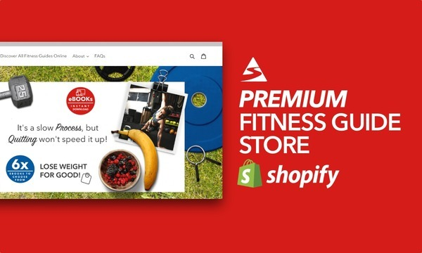 FitnessGuidesOnline.com - Password: 1234| Fitness Health Ebook Shopify Store For Sale Startup Streams
