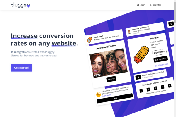 pluggey.com - Start Your Own SaaS Business With This Website Traffic Conversion Application.