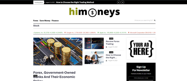 himoneys.com - Forex& Finace Blog with Unique Content 15,000 + Words. Pot. Earn Up To $5k/mo