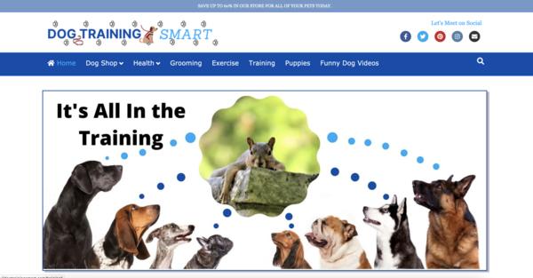 DogTrainingSmart.com - Fast Loading for Visitors. Pet Estore/Blog 100% Auto Content. Newbie Friendly.