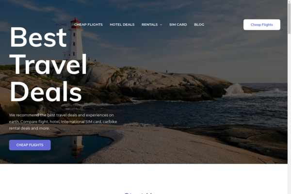 travelbestdeal.com - Automated Travel Website set-up to make $5k/month in Affiliate Commissions!