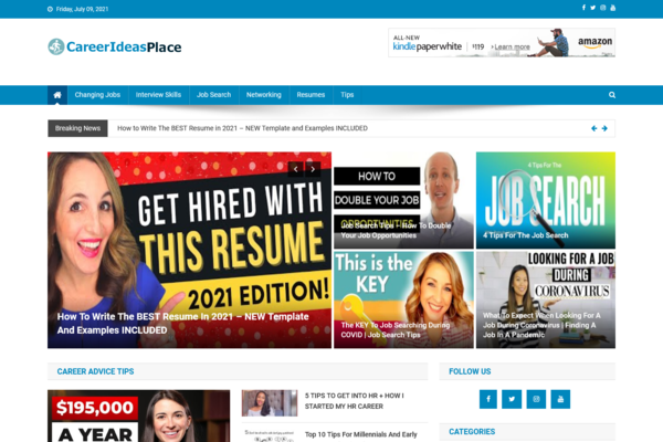 CareerIdeasPlace.com - 100% Automated Career Advice Site - Huge Profitable, Newbies Friendly - Must See