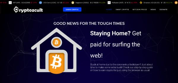 CryptozCult.com - Crypto Mining Affiliate website - Changelly Affilaite / Crypto Donation.