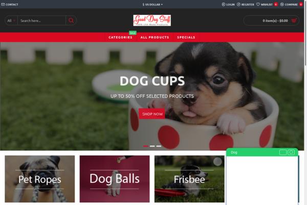 Good Dog Stuff - STARTER SITE #1 Pet Dog site & Mega Bonus |  USA Products | Free Hosting & Support +  Dropshipping Account | FB Ads + Training | LeadGen Report | Blog Articles