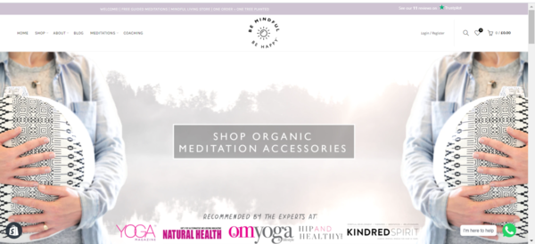 bemindful-behappy.com - Meditation/wellness accessories. Huge potential, growing niche, hard work done.