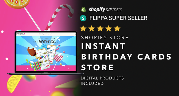 OnlineBirthdayCardStore.com - Password: 1234| Birthday / Greetings Card Niche Shopify Store Startup Streams