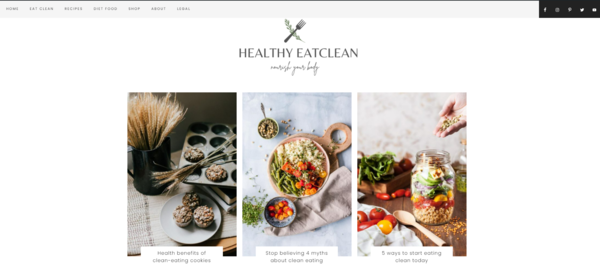 HealthyEatClean.com - An evergreen niche on Healthy Eating Lifestyle, high value keyword (>1000$) & feminine design. A great kick start for beginners and pros!