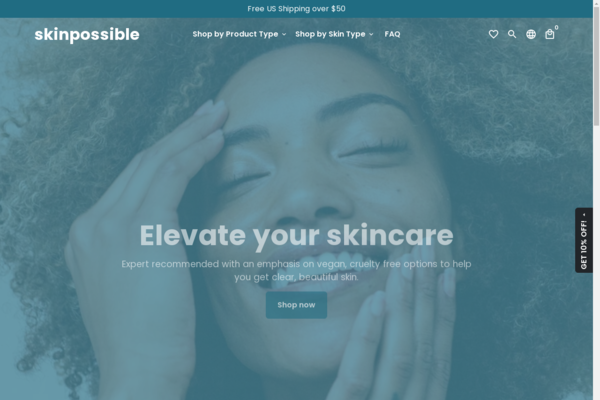 skinpossible.shop - Cruelty Free Beauty Shopify Store (19K in inventory!)