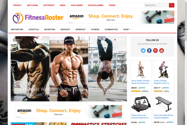 FitnessRoster.com - Automated Amazon Niche Fitness Blog To Make Money Online, Earn Up To $5k/mo