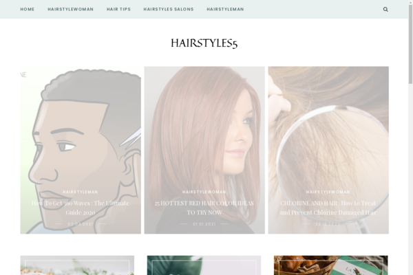 hairstyles5.com - Beauty, hairstyles, made in 2011, organic traffic from Google USA