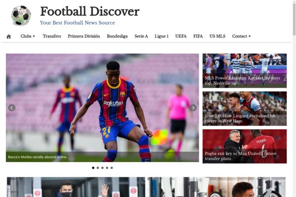 FootballDiscover.com - 100% Automated, Premium Design, Hot Niche FOOTBALL News Site,Amazon,CB Ad Income