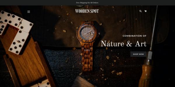 WoodenSpot.com - WoodenSpot.com |NO RESERVE|Wooden Watch & Sunglasses Store|$1,332 Domain Value