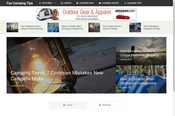 FunCampingTips.com - Hot New Niche! - Camping Blog - Amazon/Clickbank Ads! - BIN Bonuses!