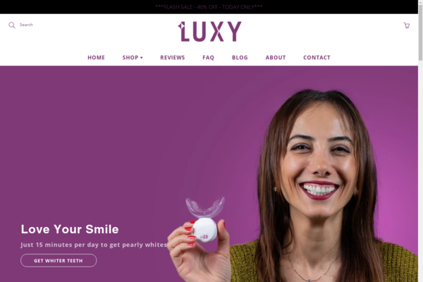 luxywhitening.com - Shopify store selling top quality Home Teeth Whitening products