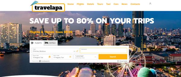 travelapa.com - Premium WhiteLabel Automated Affiliate Travel Business. Earn up to 10 000 $ / mo