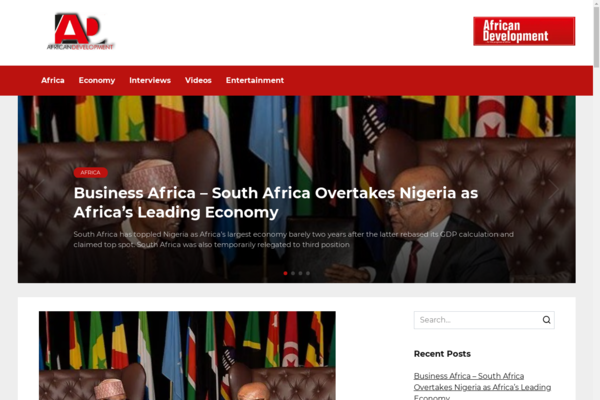 africandevmag.com - Ukrainian blog about Africa. Organic traffic from google