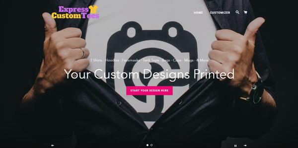 ExpressCustomTees.com - Shopify Dropship On Demand Print Store, Premium Domain worth $962,US/EU supplier