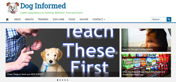 DogInformed.com - Hot Niche DOG Website - Premium Design- Fully Automated -Ad Income - BIN Bonus