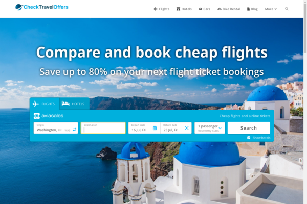 CheckTravelOffers.com - Automated Travel Site, Potential to Earn Up To $5k/Mth, Passive Income Potential