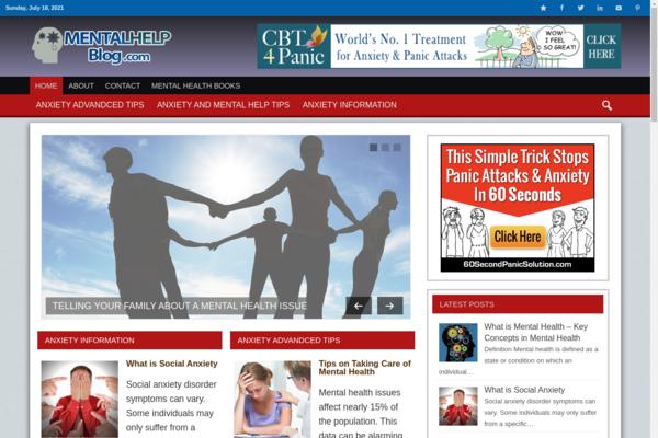 mentalhelpblog.com - Premium Mental Health Niche Information Website