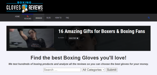 BoxingGlovesReviews.com - Advertising / Sports and Outdoor