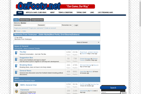 ozfooty.net - Services / Sports and Outdoor