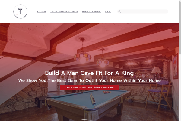 tailoredcave.com - Man Cave Gadgets | Content Site | Affiliate Marketing, Ads & More!