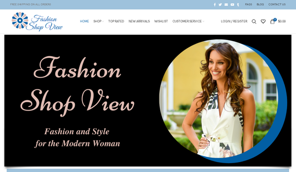 fashionshopview.com - Automated Store, SEO Backlinks $4,500/Mo Potential, 10-years Domain -NO RESERVE!