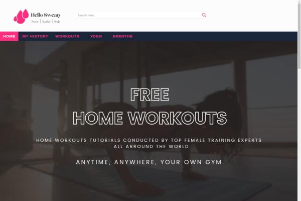 "hellosweaty.com - Unique Design website combine Fitness & Lifestyle & ""GREEN Trend"" Niches"
