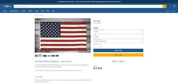 flagstore.com - FlagStore.com - Premium domain and Shopify store with CRM integration