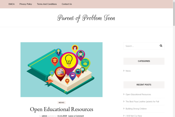 parentofproblemteen.com - Website about teenage psychology with US organic traffic