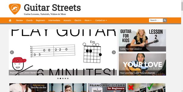 GuitarStreets.com - Guitar Site - Premium Design, Fully Automated, Amazon, CB, AdSense, BIN Bonuses