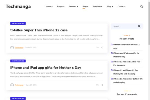 techmanga.com - Wordpress Tech niche with 500 Blog posts, 100% organic Traffic