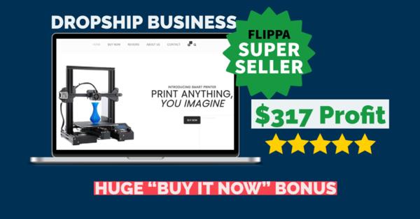 BuySmartPrinter.com - $317 Profit | Dropshipping Business | US & EU SUPPLIER |Domain Value $922