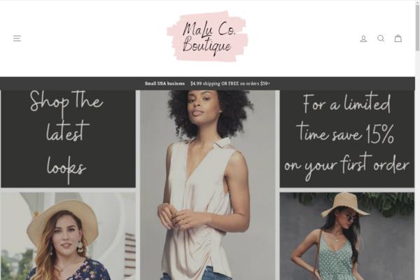 malucoboutique.com - Turn-key women's boutique with amazing potential!!