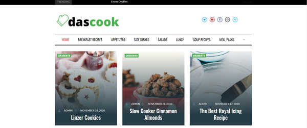 dascook.com - Cooking Blog & News Site For Passive Income, Earn Up To $5k/mo