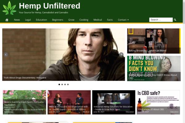 HempUnfiltered.com - Fully Automated CBD Website - 1 Year Free Hosting BIN + Great Bonuses