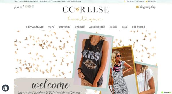 ccreeseboutique.com - e-Commerce / Design and Style