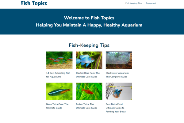 fishtopics.com - This is a newer niche site about fish-keeping tips and topics.