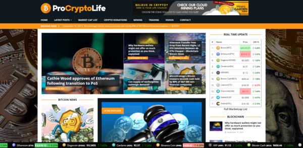 ProCryptoLife.com - Autopilot Crypto Bitcoin News Magazine Blog To Make Money Online
