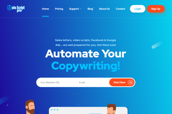 AutoScriptPro.com - #1 Automatic Writing Website, A beautiful copywriting will be ready to download.