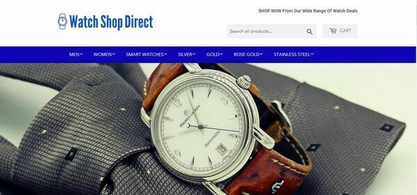 WatchShopDirect.com - High-Profit Luxury Watch Store with Striking Design and Valuable Domain