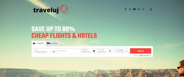 traveluj.com - WhiteLabel Affiliate Travel Business & Blog with Unique Content 15,000 Words