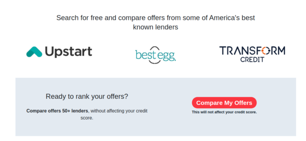 CreditRank - CreditRank is a free online loan comparison tool where borrowers can get pre-qualified loan offers from 50+ lenders. CreditRank earns commission from lenders.